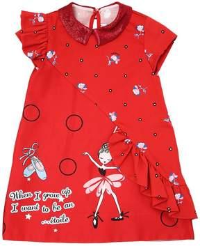Simonetta Dancer Printed Cotton Satin Dress