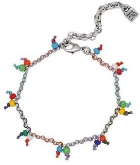 Uno de 50 Rocky Pendant Chain Link Bracelet