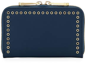 Zac Posen Earthette Leather Grommet Wallet, Navy