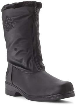 totes Black Staride Snowflake Winter Boots