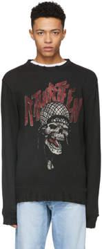 R 13 Black Battle Punk Vintage Sweatshirt