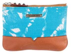 Rebecca Minkoff Leather-Trimmed Zip Pouch - BLUE - STYLE