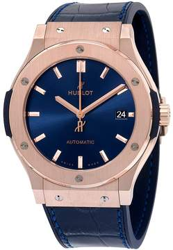 Hublot Classic Fusion Blue Sunray Dial 18K King Gold Automatic Men's Watch