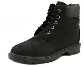 Timberland 6in Classic Bt Youth Round Toe Leather Black Chukka Boot.