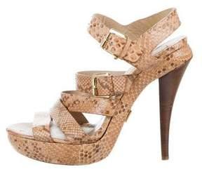 Michael Kors Snakeskin Platform Sandals
