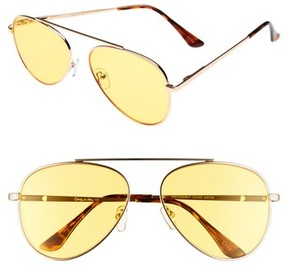 Sam Edelman Women's 58Mm Aviator Sunglasses - Gold/ Yellow