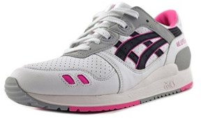 Asics Gel Lyte Iii Gs Youth Round Toe Synthetic White Sneakers.