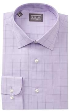 Ike Behar Glen Plaid Regular Fit Dress Shirt