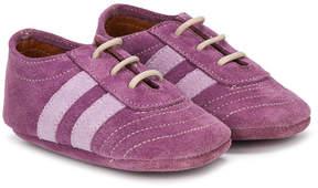 Pépé stripes crib shoes