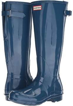 Hunter Back Adjustable Gloss Rain Boots Women's Rain Boots