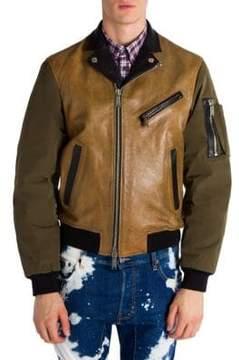 Viktor & Rolf Colorblock Leather Jacket