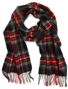 Barbour Men's New Check Lambswool & Cashmere Scarf