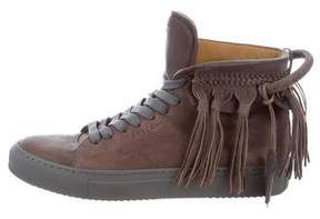 Buscemi High-Top Fringe-Trimmed Sneakers