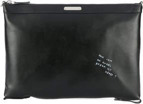 Saint Laurent doodle clutch bag