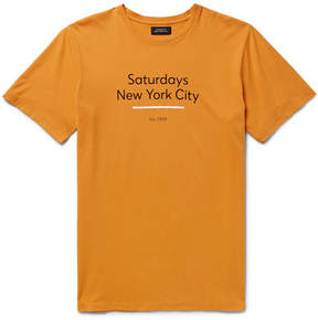 Saturdays NYC Underlined Standard Printed Cotton-Jersey T-Shirt