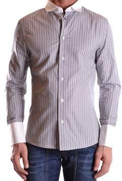 Dirk Bikkembergs Men's Grey Cotton Shirt.