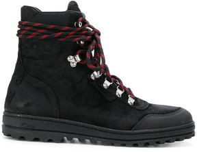 Off-White lace-up boots