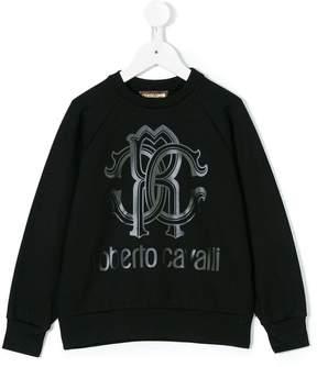 Roberto Cavalli logo print sweatshirt