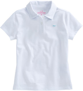 Vineyard Vines Girls Whale Tail Square Pique Polo
