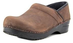 Sanita Professional Textured Women Round Toe Leather Clogs.