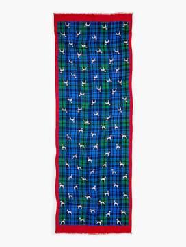 Talbots Dalmatian & Plaid Print Scarf