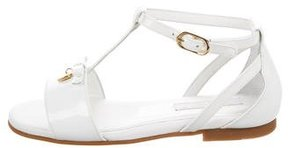 Dolce & Gabbana Girls' Bow-Embellished Patent Leather Sandals