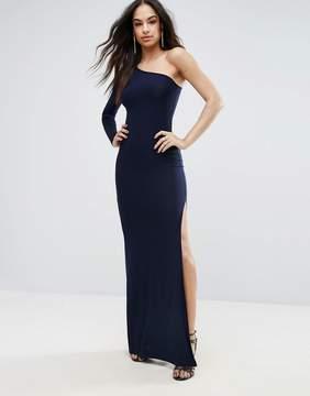 Club L One Shoulder Maxi Dress with Thigh Split