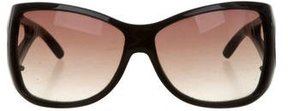 Marc Jacobs Logo-Embellished Oversize Sunglasses