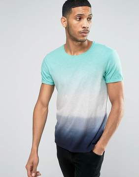 Esprit Crew Neck T-Shirt with Faded Stripe Print