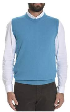 Altea Men's Blue Wool Vest.