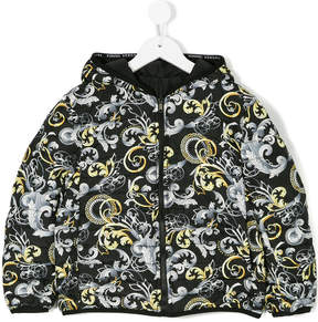 Versace printed hooded jacket