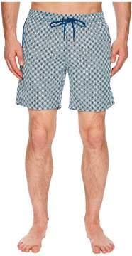 Mr.Swim Mr. Swim Geometric Printed Dale Swim Trunks Men's Swimwear