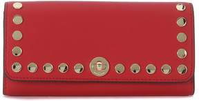 Michael Kors Rivington Red Leather Wallet With Studs - ROSSO - STYLE