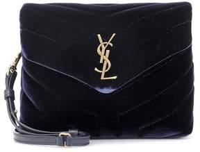 Saint Laurent Toy Loulou velvet shoulder bag