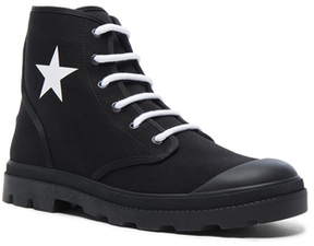 Givenchy Canvas Star Sneaker Boots in Black.