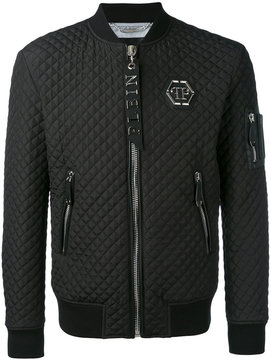 Philipp Plein quilted bomber jacket