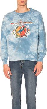 Remi Relief Tie Dye Finish Fleece Crewneck Sweatshirt