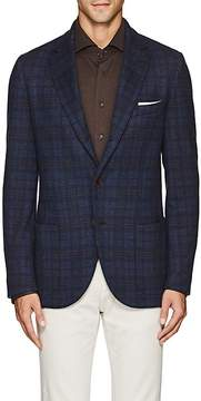 Loro Piana Men's Checked Cashmere-Silk Two-Button Sportcoat
