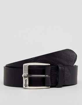 Diesel Textured Leather Belt in Black