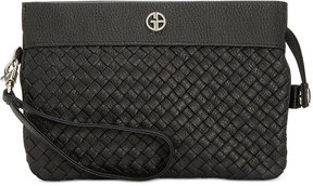 Giani Bernini Woven Leather Convertible Crossbody, Created for Macy's