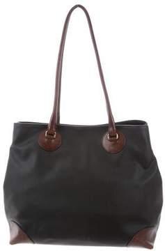Bottega Veneta Leather-Trimmed Coated Tote