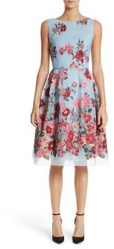 Carolina Herrera Women's Embroidered Floral Fit & Flare Dress