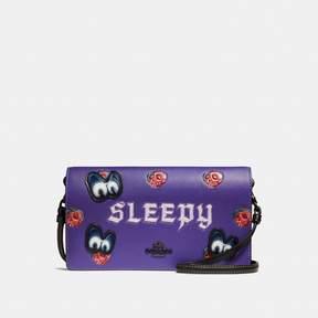 Coach Disney X Sleepy Foldover Crossbody Clutch