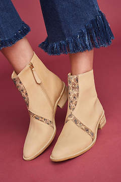 Anthropologie Leopard Trimmed Booties