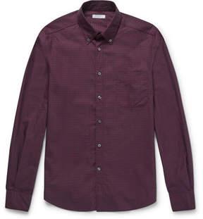 Boglioli Slim-Fit Button-Down Collar Checked Cotton Shirt