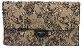 Rochas Leather & Lace Clutch