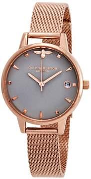 Olivia Burton Queen Bee Grey Dial Ladies Watch