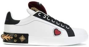 Dolce & Gabbana heart and stud embellished Portofino sneakers