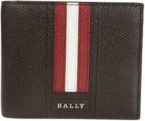 Bally Billfold Striped Wallet