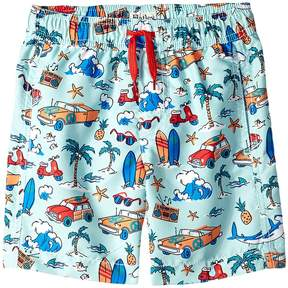 Hatley Surf Island Swim Trunks Boy's Swimwear